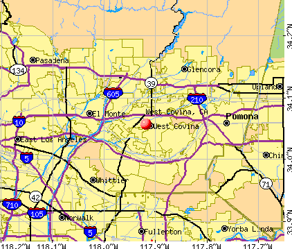 West Covina, CA map