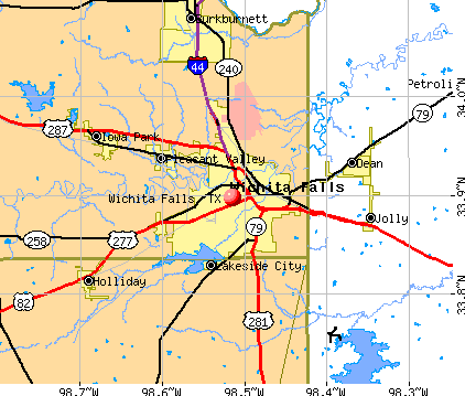 Wichita Falls, TX map