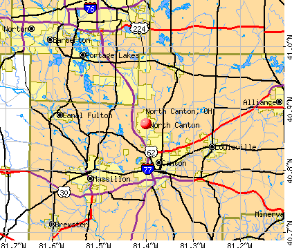North Canton, OH map