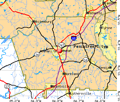 Newnan, GA map
