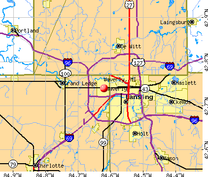 Waverly, MI map