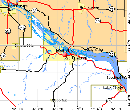 Red Wing, MN map