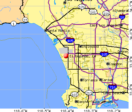 El Segundo, CA map