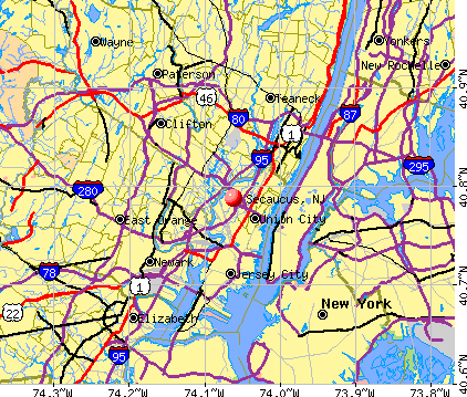 Secaucus, NJ map