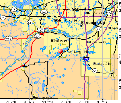 Prior Lake, MN map