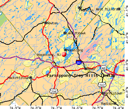 Hopatcong, NJ map