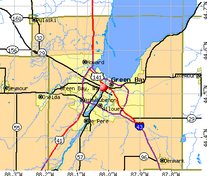 Green Bay, WI map