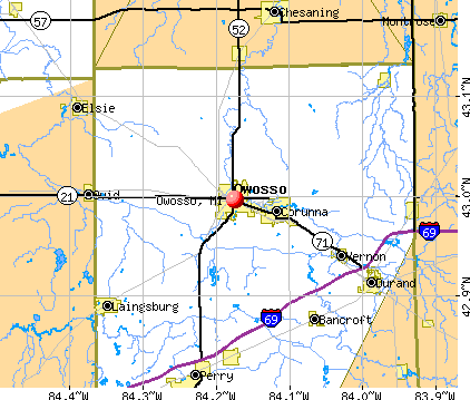 Owosso, MI map