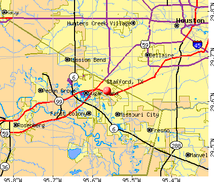 Stafford, TX map
