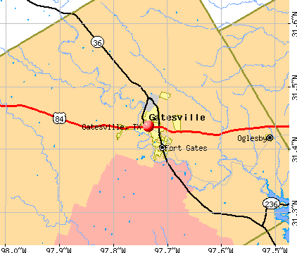 Gatesville, TX map