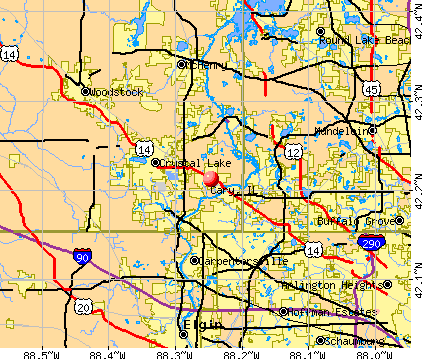 Cary, IL map