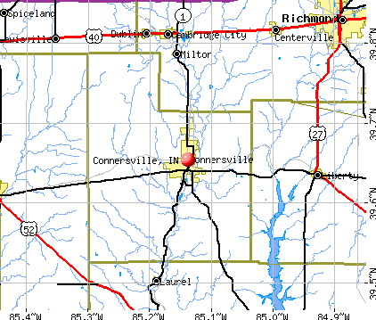 Connersville, IN map