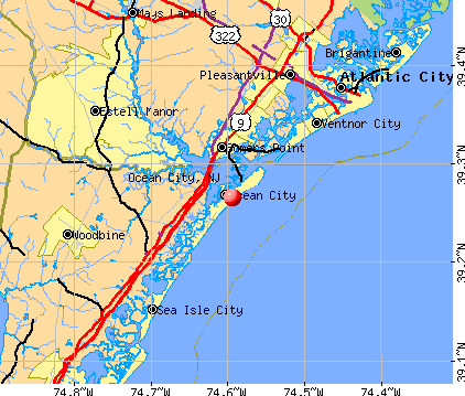 Ocean City, NJ map