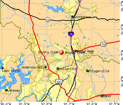 Brushy Creek, TX map