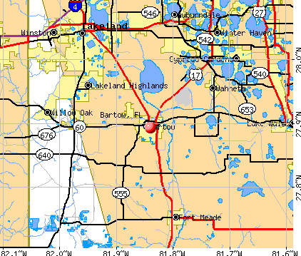 Bartow, FL map