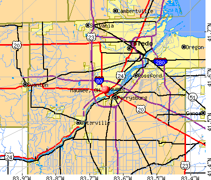 Maumee, OH map