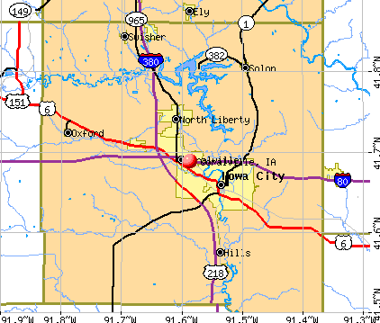 Coralville, IA map