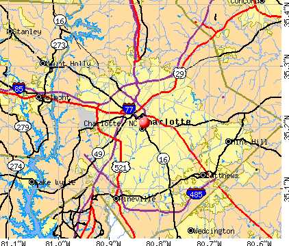 Charlotte, NC map