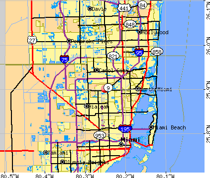 Opa-locka, FL map