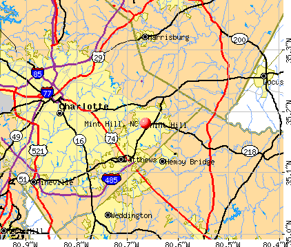 Mint Hill, NC map