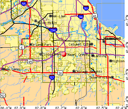 Hazel Crest, IL map