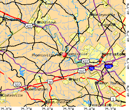 Phoenixville, PA map