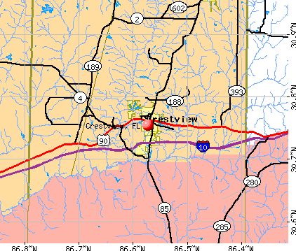 Crestview, FL map