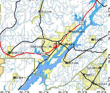 Scottsboro, AL map