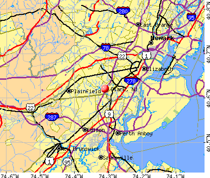 Clark, NJ map