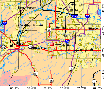 Mokena, IL map