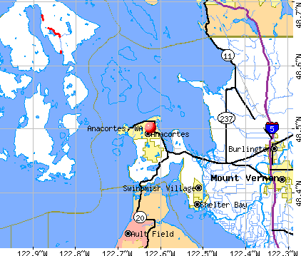 Anacortes, WA map