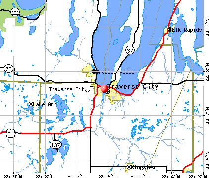 Traverse City, MI map