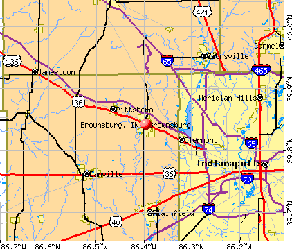 Brownsburg, IN map