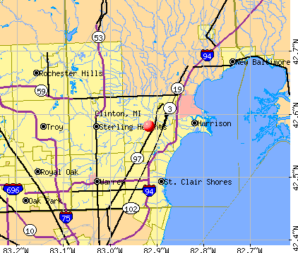 Clinton, MI map