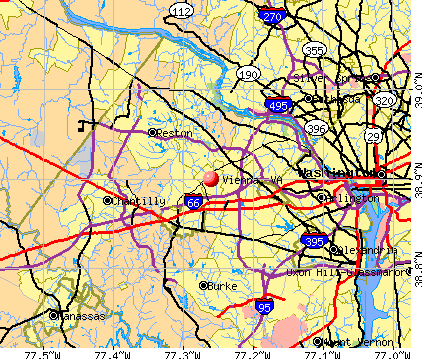 Vienna, VA map