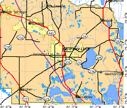 Gainesville, FL map