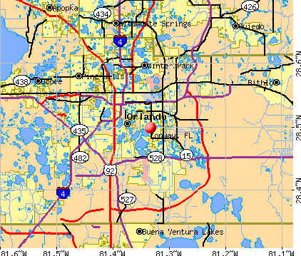 Conway, FL map