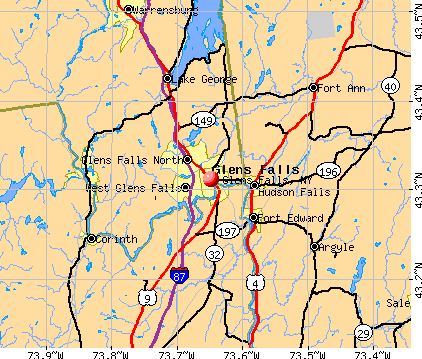 Glens Falls, NY map