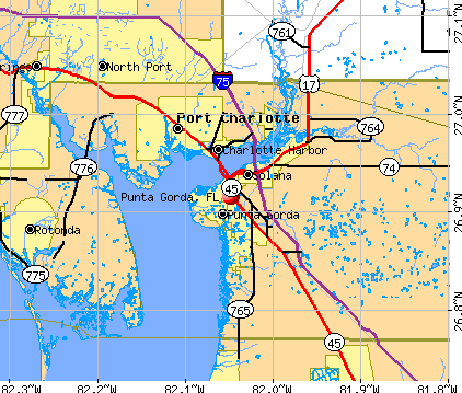 Punta Gorda, FL map