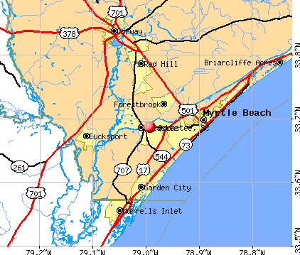 Socastee, SC map