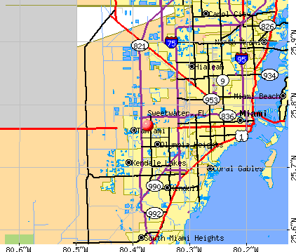 Sweetwater, FL map