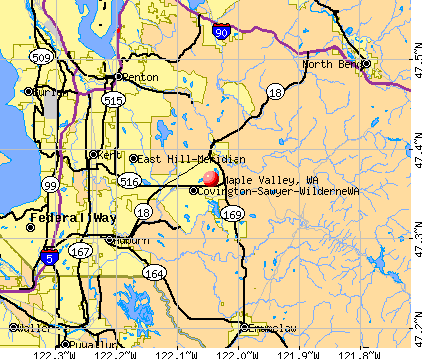 Maple Valley, WA map