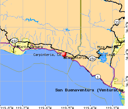 Carpinteria, CA map