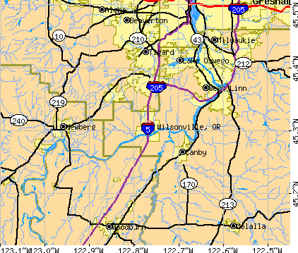 Wilsonville, OR map
