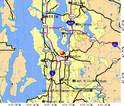 Bryn Mawr-Skyway, WA map