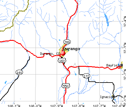 Durango, CO map