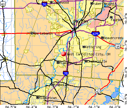 West Carrollton City, OH map