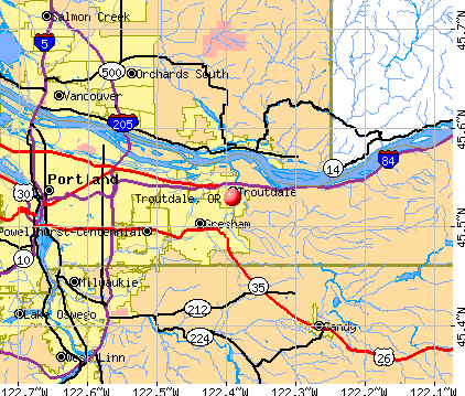 Troutdale, OR map