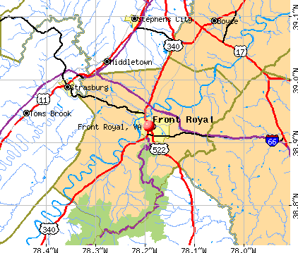 Front Royal, VA map