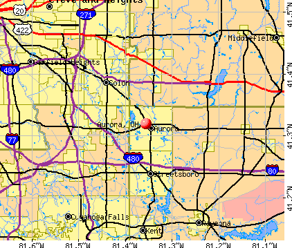 Aurora, OH map